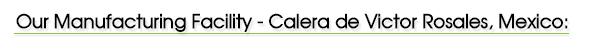 Manufacturing Facility - Calera de Victor Rosales, Mexico: